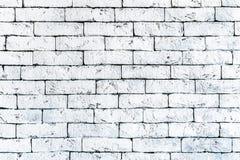 De muur van oude witte baksteen, grunge stijl achtergrondtextuur, kan voor ontwerp gebruiken stock foto