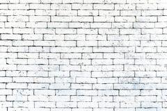 De muur van oude witte baksteen, grunge stijl achtergrondtextuur, kan voor ontwerp gebruiken stock afbeelding