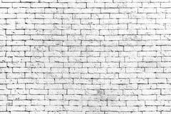 De muur van oude witte baksteen, grunge stijl achtergrondtextuur, kan voor ontwerp gebruiken stock foto's
