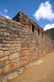 De Muur van Picchu van Machu stock afbeelding