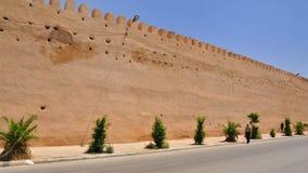 De muur van Royal Palace in Meknes, Marokko Stock Foto