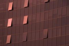 De muur van skyskraper zaken-centrum in kleur van het jaar 2019 - het Leven Koraal royalty-vrije stock afbeeldingen