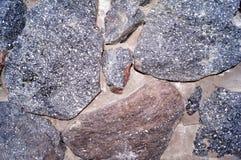 De muur van de steen Textuur van aard Achtergrond voor tekst, banner, etiket Royalty-vrije Stock Afbeelding