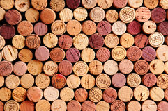 De muur van Wijn kurkt royalty-vrije stock afbeeldingen