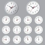 De muur zette digitale klok op Stock Foto's