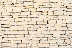 De muurachtergrond van de steen, patroon. De Provence. Stock Afbeelding