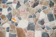 De muurachtergrond van de steenbekleding Stock Foto