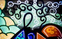 De muurachtergrond van Graffiti Royalty-vrije Stock Afbeelding
