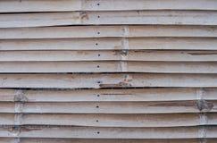 De muurachtergrond van het bamboepatroon Stock Afbeeldingen