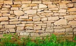 De muurachtergrond van het kalksteen Stock Foto's