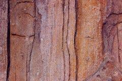 De muurachtergrond van de steen Abstracte texturen Barsten op de muur royalty-vrije stock foto's