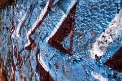 De muurachtergrond van de straatgraffiti Stock Fotografie