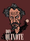 De muuraffiche voor trekt Don Quichot aan vector illustratie