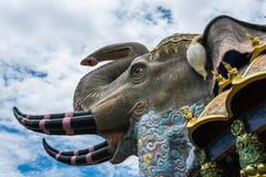 De muurart. van het olifantsmozaïek Stock Foto