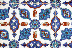 De muurdecoratie van de tegel van Pasha Rustem Moskee, Istanboel Stock Foto