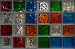 De muurdecoratie van het glasblok Stock Afbeelding