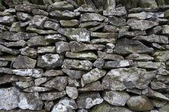 De muurdetail van Drystone Stock Afbeeldingen