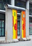 De muurfragment van Berlijn in Potsdamer Platz Royalty-vrije Stock Fotografie