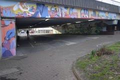 De muurschildering van Daniel McCarthy ` s in Croydon Stock Foto