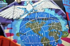 De muurschildering van de hippie in Haight Hasbury in San Francisco Stock Fotografie