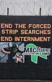 De Muurschildering van de internering op de Weg van Dalingen Stock Foto