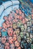 De Muurschildering van de Muur van Berlijn stock afbeelding