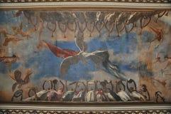 De muurschildering van het plafond, Museo DE La Revolucion, Havana Stock Afbeeldingen