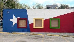 De muurschildering van de muurkunst in Diepe Ellum, Dallas, Texas royalty-vrije stock foto's
