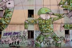 De Muurschildering van Warshau stock afbeeldingen