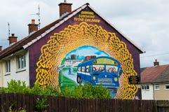 De muurschilderingen van Belfast Stock Afbeeldingen