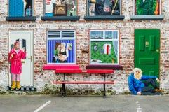 De muurschilderingen van Belfast Stock Fotografie