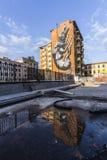 De muurschilderingen van de straatkunst in Rome voor 999contemporary-galery stock fotografie