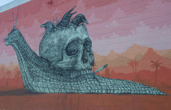 De Muurschilderingen van Las Vegas Stock Afbeeldingen