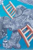 De Muurschilderingen van Las Vegas Stock Foto's