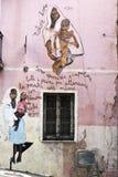 De muurschilderingen van Orgosolo - Sardinige Stock Fotografie