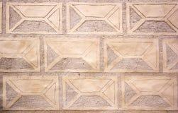 De muurtextuur van het Livonia-Ordekasteel werd gebouwd in het midden van de 15de eeuw Bauska Letland Stock Foto