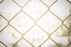 De muurverbinding van de kettingsdraad, voor veiligheid Stock Foto