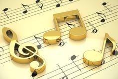 De muziek Royalty-vrije Stock Afbeeldingen