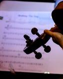 In de muziek Stock Foto's