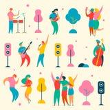 De muziek fest plaatste royalty-vrije illustratie