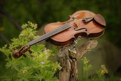 De muziek is in de lucht Stock Foto's
