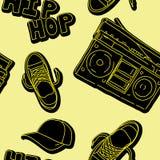 De muziek naadloos patroon van de hiphop Stock Foto's