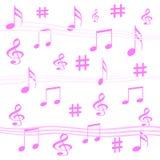 De muziek neemt nota gift van omslag Stock Foto's