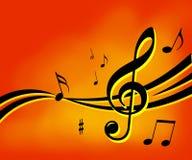 De muziek neemt nota van achtergrond Royalty-vrije Stock Afbeeldingen