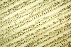 De muziek neemt nota van achtergrond Stock Foto's