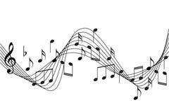 De muziek neemt nota van achtergrond stock afbeelding