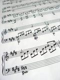 De muziek neemt nota van detail Royalty-vrije Stock Foto
