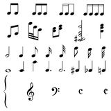 De muziek neemt nota van EPS Stock Foto's