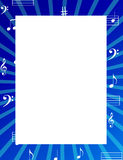 De muziek neemt nota van grens/frame Stock Fotografie