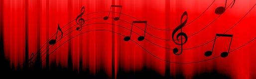 De muziek neemt nota van kopbal Stock Afbeelding